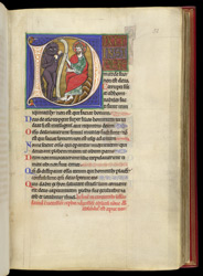 Psalm 52 with the Temptation of Christ, in a Psalter